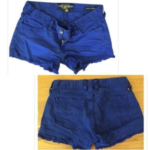 Lucky Brand Riley Short 12/31 Cobalt Blue Cutoffs